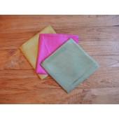 Seidentücher, Nuckel,-Schmuse,-Spieltücher, dreier Farb Set, pflanzengefärbt, reines Naturprodukt