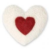 Efie Kirschkern-Wärmekissen Herz rot, kontrolliert biologischer Anbau, GOTS zertifiziert, 100 % Made in Germany