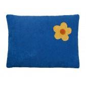 Efie Kissen blau, Blümchen, aus kontrolliert biologischer Baumwolle (kbA), 100 % Made in Germany