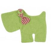 Schmusetuch/Schnuffeltuch Hund grün, kontrolliert biologischer Anbau (kbA), GOTS zertifiziert, 100 % Made in Germany