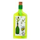 Flaschenpost®, gelb, Motiv Sekt
