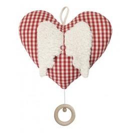 Spieluhr Herzchen, kontrolliert biologischer Anbau (kbA), 100 % Made in Germany