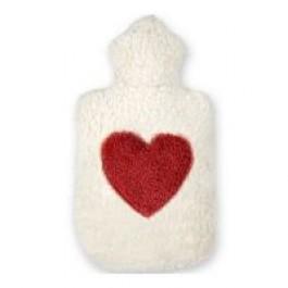 Dinkelkorn Wärmekissen mit Herz Applikation, 100 % Made in Germany