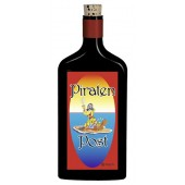 Flaschenpost®, schwarz, Motiv Piraten-Post