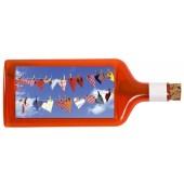 Flaschenpost®, rot, Motiv Herzen-Leine