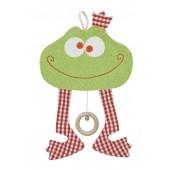 Spieluhr Frosch, kontrolliert biologischer Anbau (kbA), 100 % Made in Germany
