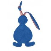 Schmusetuch/Schnuffeltuch Hase blau, kontrolliert biologischer Anbau (kbA), GOTS zertifiziert, 100 % Made in Germany