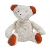 Spiel & Kuscheltier Teddy mit Halstuch, kontrolliert biologischer Anbau, GOTS zertifiziert, 100 % Made in Germany