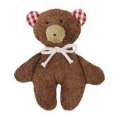 Rassel Teddy braun, GOTS zertifiziert, kontrolliert biologischer Anbau, 100 % Made in Germany