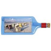 Flaschenpost®, blau, Motiv Strandkörbe