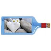 Flaschenpost®, blau, Motiv Herzen