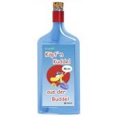 Flaschenpost®, blau, Motiv Käpt'n Kuddel