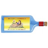 Flaschenpost®, blau, Motiv Geburt