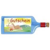 Flaschenpost®, blau, Motiv Gutschein