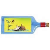 Flaschenpost®, blau, Motiv Sonnenblume
