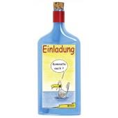 Flaschenpost®, blau, Motiv Einladung