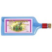 Flaschenpost®, blau, Motiv Ich gratuliere
