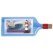 Flaschenpost®, blau, Motiv Flaschenpost