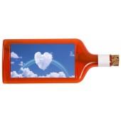 Flaschenpost®, rot, Motiv Wolken-Herz